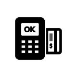 POS icon flat style simple vector illustration. Payment terminal Royalty Free Stock Photos