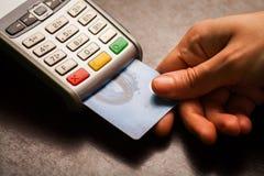 Pos. och kreditkortar Arkivbilder