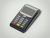 POS portable credit card machine. 3d rendering Stock Photo