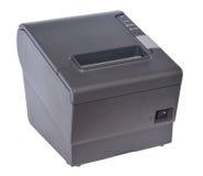 POS printer. Black POS printer on white background Stock Photos
