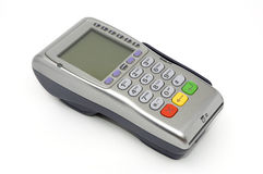 POS-terminal. Modern wireless POS-terminal with battery and GPRS module Stock Photo