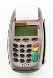 Pos terminal. Device for credit and debit card stock photos