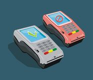 POS terminal active and broken Royalty Free Stock Photos