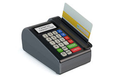 POS-terminal with credit card Stock Images
