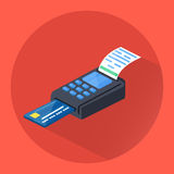 POS terminal icon. Isometric illustration of POS terminal. Vector Stock Images