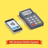 POS terminal wireless mobilepayment transaction Stock Photo