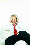 posłuchaj muzyki Obrazy Stock