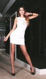Posa alla moda della giovane donna. Fotografia Stock