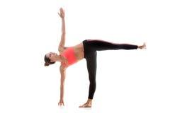 Posa Ardha Chandrasana di yoga Fotografia Stock Libera da Diritti