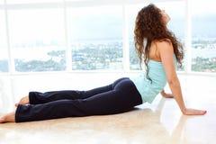 Posa ascendente del cane di yoga Immagine Stock Libera da Diritti