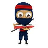 Posa blu di ninja Fotografia Stock