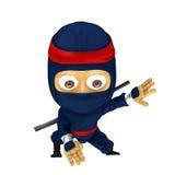 Posa blu di ninja Immagine Stock Libera da Diritti