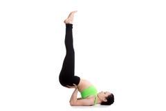 Posa capovolta di yoga della guarnizione Fotografia Stock