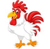 Posa del gallo del pollo del fumetto Fotografia Stock