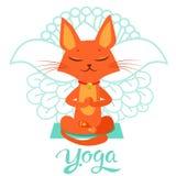 Posa del gatto di yoga Yoga Cat Vector Yoga Cat Meme Yoga Cat Images Yoga Cat Position Immagini Stock