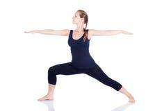 Posa del guerriero di virabhadrasana II di yoga Fotografia Stock Libera da Diritti