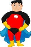 Posa del ragazzo del supereroe royalty illustrazione gratis