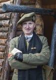 Posa del sacerdote dell'esercito britannico di WWI Fotografia Stock Libera da Diritti