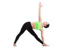 Posa del triangolo di yoga Fotografie Stock