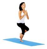 Posa dell'aquila di yoga Fotografie Stock
