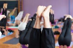 Posa della candela di yoga Immagine Stock Libera da Diritti