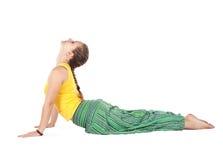 Posa della cobra di yoga Immagini Stock Libere da Diritti