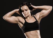 Posa della donna di forma fisica. Fotografia Stock Libera da Diritti