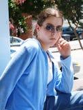 Posa della giovane donna Fotografie Stock