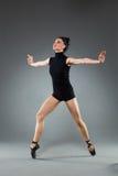 Posa della punta dei piedi del ballerino di balletto Immagine Stock Libera da Diritti