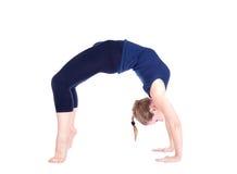 Posa della rotella di chakrasana di yoga Immagini Stock