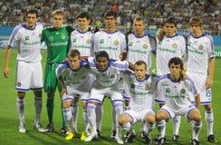 Posa della squadra di Kyiv della dinamo di FC per una foto del gruppo Immagini Stock