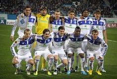 Posa della squadra di Kyiv della dinamo di FC per una foto del gruppo Fotografie Stock Libere da Diritti
