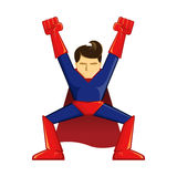 Posa di conquista del supereroe Immagini Stock Libere da Diritti