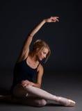 Posa di esercitazione di balletto Fotografie Stock
