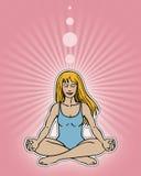 Posa di meditazione illustrazione di stock