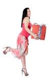 Posa di modo per una donna ispanica fotografia stock libera da diritti