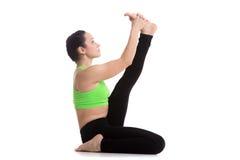 Posa di yoga dell'airone Immagine Stock