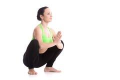 Posa di yoga della ghirlanda Fotografia Stock Libera da Diritti