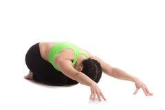 Posa di yoga di Child's Fotografia Stock