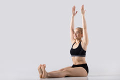 Posa di yoga di Dandasana Immagine Stock Libera da Diritti