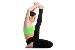 Posa di yoga di Krounchasana Immagini Stock Libere da Diritti