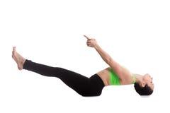 Posa di yoga di Matsyasana Fotografie Stock Libere da Diritti