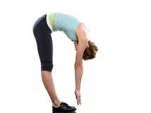 Posa di yoga di saluto del sole della donna Immagini Stock Libere da Diritti