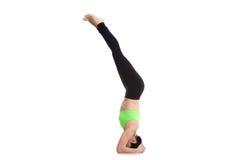 Posa di yoga di sirsasana di Salamba Immagini Stock