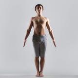 Posa di yoga di Tadasana Fotografie Stock