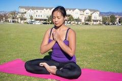 Posa di yoga - meditazione Immagini Stock Libere da Diritti
