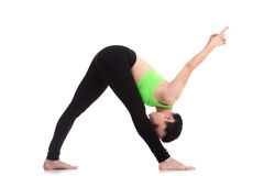 Posa laterale intensa di allungamento di yoga Fotografia Stock