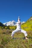Posa marrone rossiccio di yoga di Belhi Immagini Stock Libere da Diritti