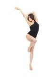 Ballerino di balletto moderno della donna di stile contemporaneo di jazz abbastanza esile Fotografie Stock