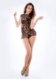 Posa moderna del ballerino di stile Immagine Stock
